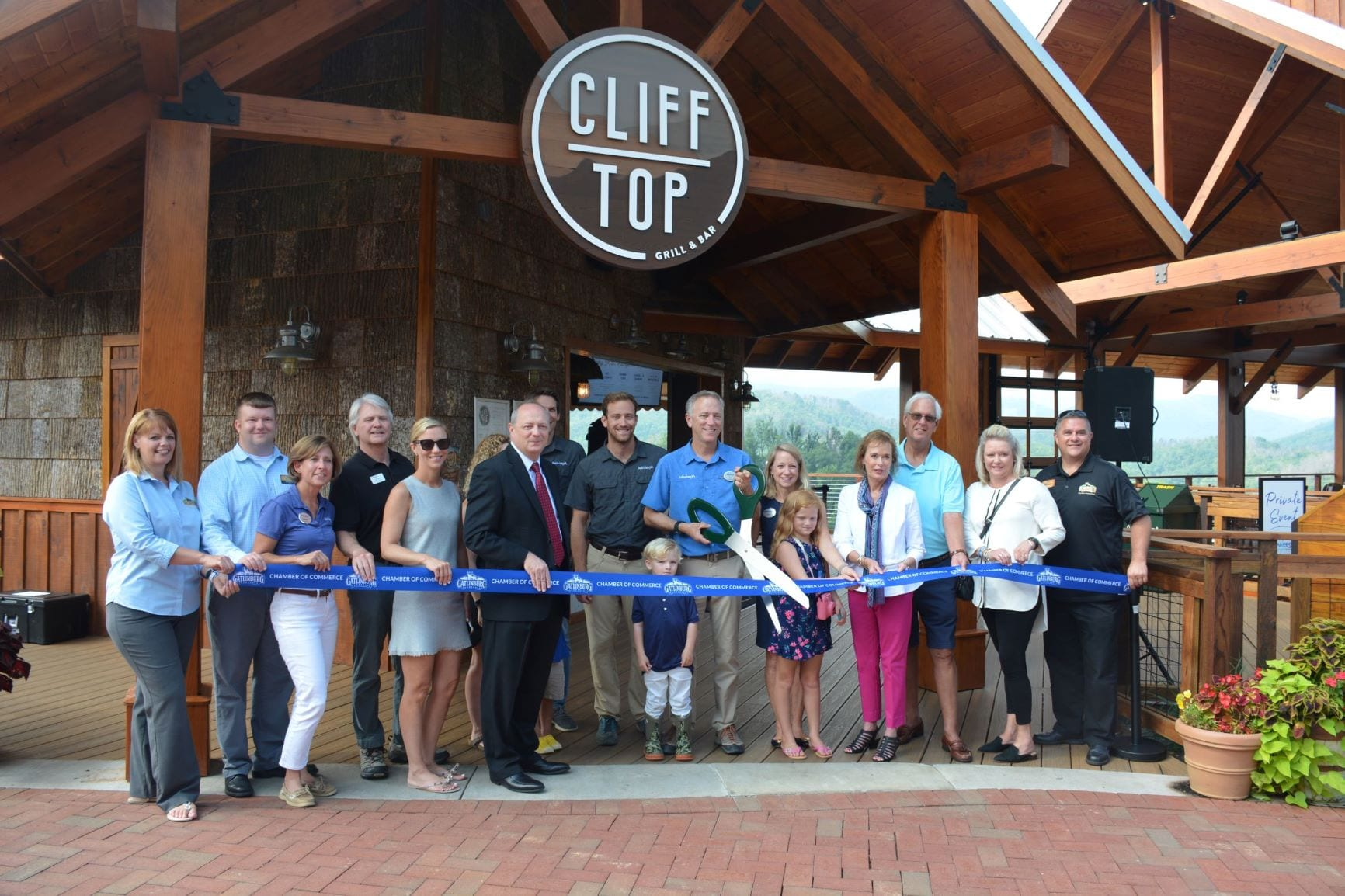 Cliff Top Ribbon Cutting front