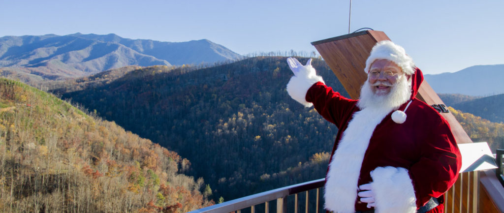Santa on AnaVista Tower